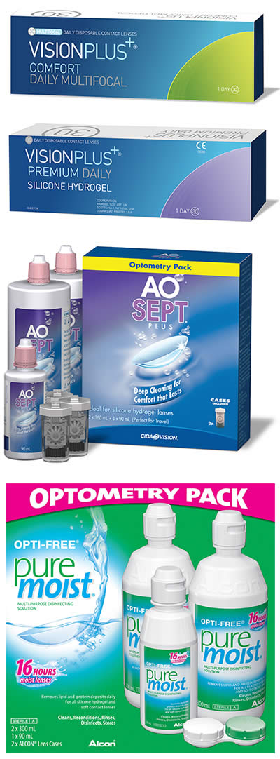 AOSept Plus Value Pack And OFPM Contact Lenses 400
