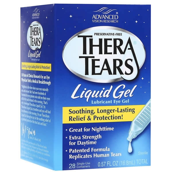 TheraTears Liquid Gel Lubricant Eye Drops Visique Liquids
