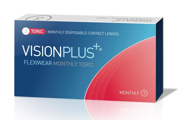 Visionplus Flexiwear Monthly Toric Visique Contacts