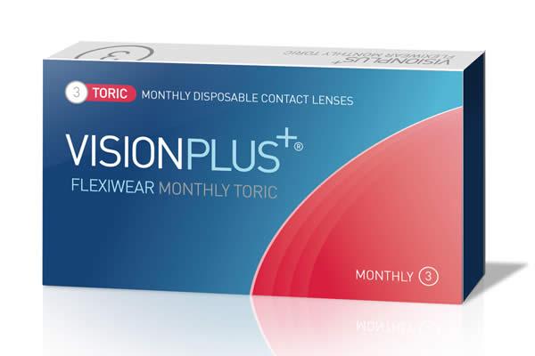 Visionplus Flexiwear Monthly Toric Visique Contacts